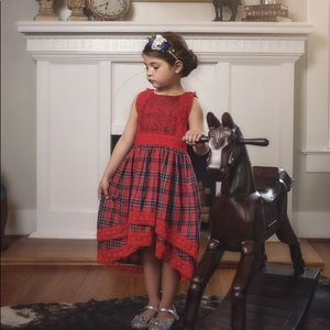 Trish Scully red tartan Delphine dress